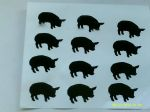 30 x  Pig stickers